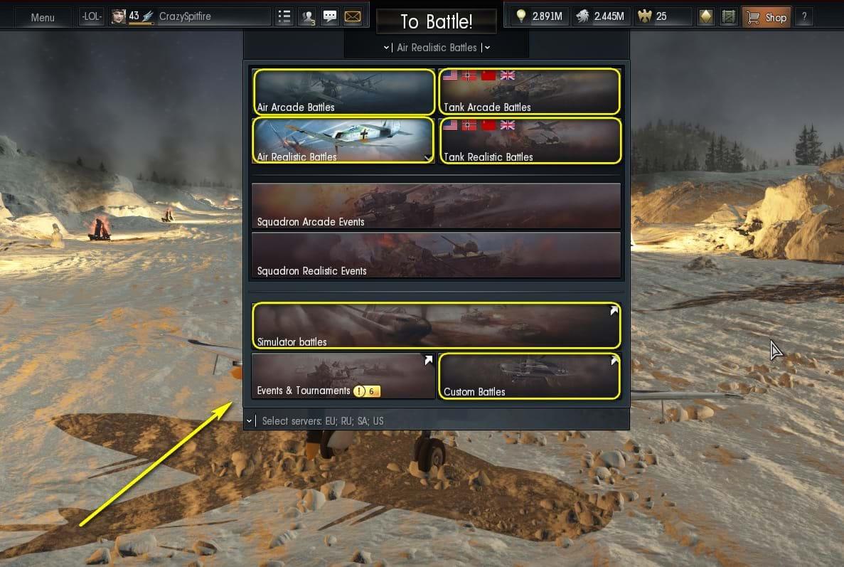 War thunder arcade game modes samples