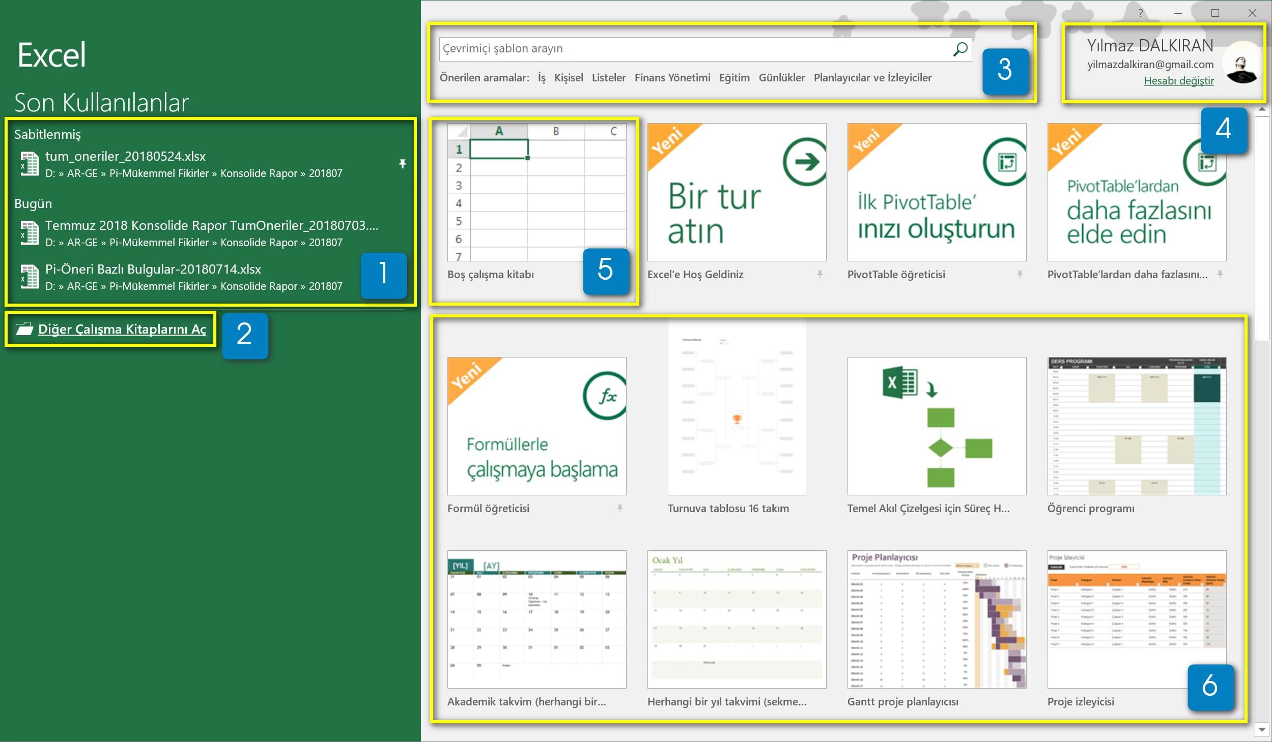 Excel E Baslarken Temel Duzey Excel Dersleri