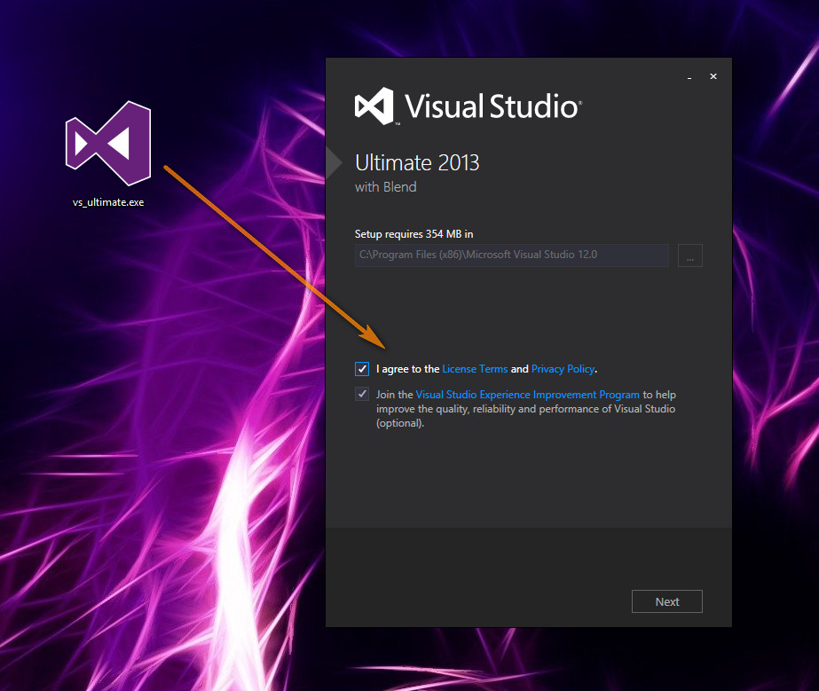 visual studio 2013 kurulumu