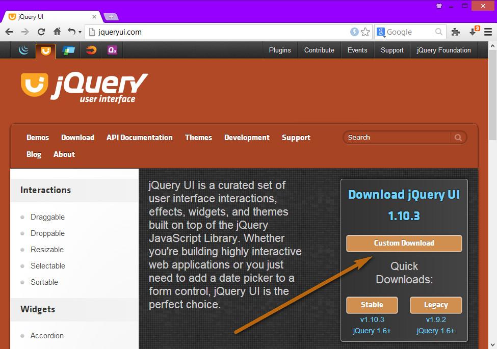 jQuery UI Kullanımı